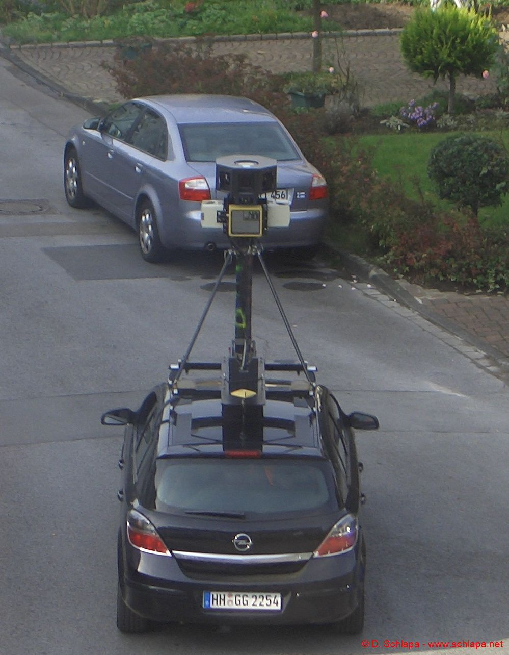 Das Goole Street View Auto in Hilden